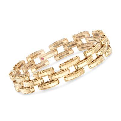 "Roberto Coin ""Retro"" 18kt Yellow Gold Link Bracelet, , default"