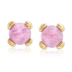 Italian Andiamo 2.00 ct. t.w. Amethyst Earrings in 14kt Gold, , default