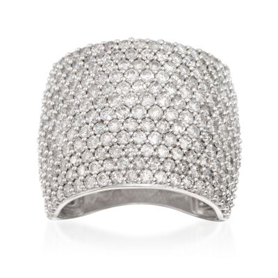 4.00 ct. t.w. Pave Diamond Ring in 14kt White Gold, , default