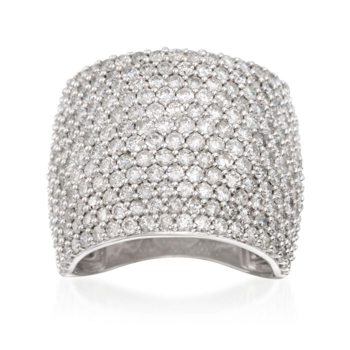 4.00 ct. t.w. Pave Diamond Ring in 14kt White Gold