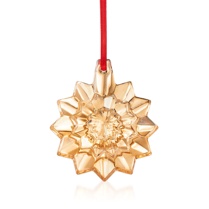 Baccarat 2019 Annual Gold Crystal Christmas Snowflake Ornament