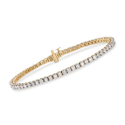 4.00 ct. t.w. Diamond Tennis Bracelet in 14kt Yellow Gold, , default
