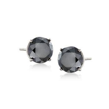 2.00 ct. t.w. Black Diamond Stud Earrings in 14kt White Gold, , default