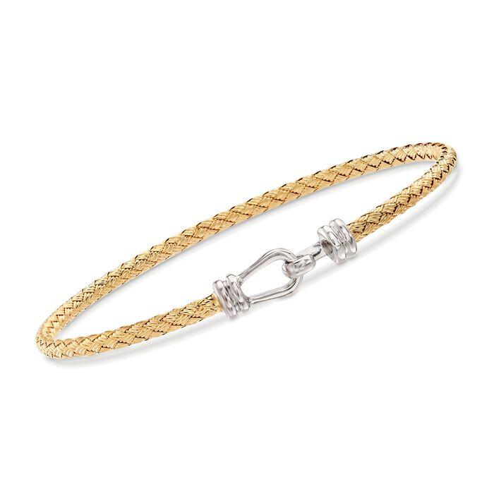 "Charles Garnier ""Caribbean"" Two-Tone Sterling Silver Hook Bracelet. 7"", , default"