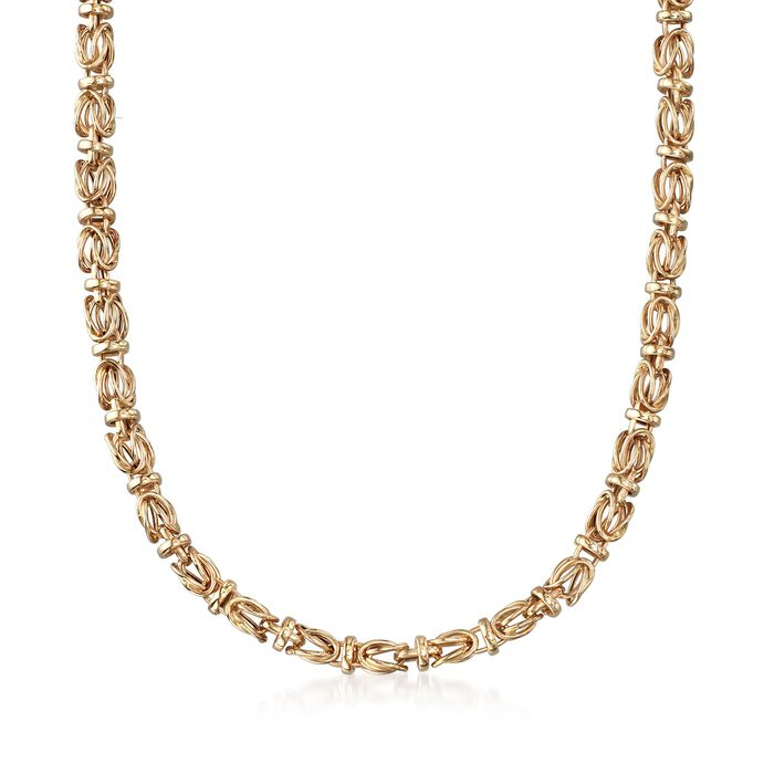 """14kt Yellow Gold Byzantine Necklace. 20"""", , default"""