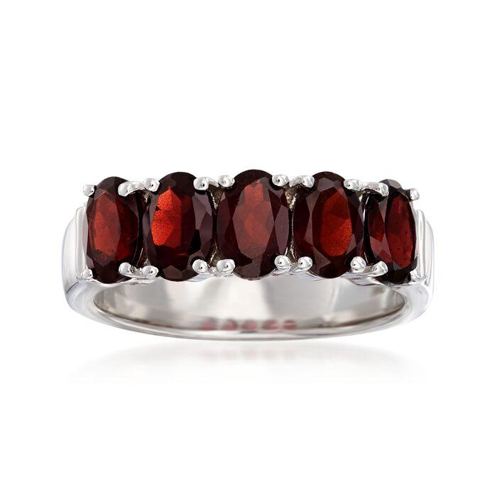 2.40 ct. t.w. Garnet Five-Stone Ring in Sterling Silver, , default