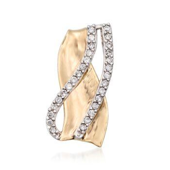 .30 ct. t.w. Diamond Crisscross Pendant in 14kt Two-Tone Gold, , default