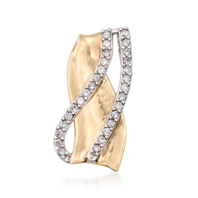 .30 ct. t.w. Diamond Crisscross Pendant in 14kt Two-Tone Gold, , default
