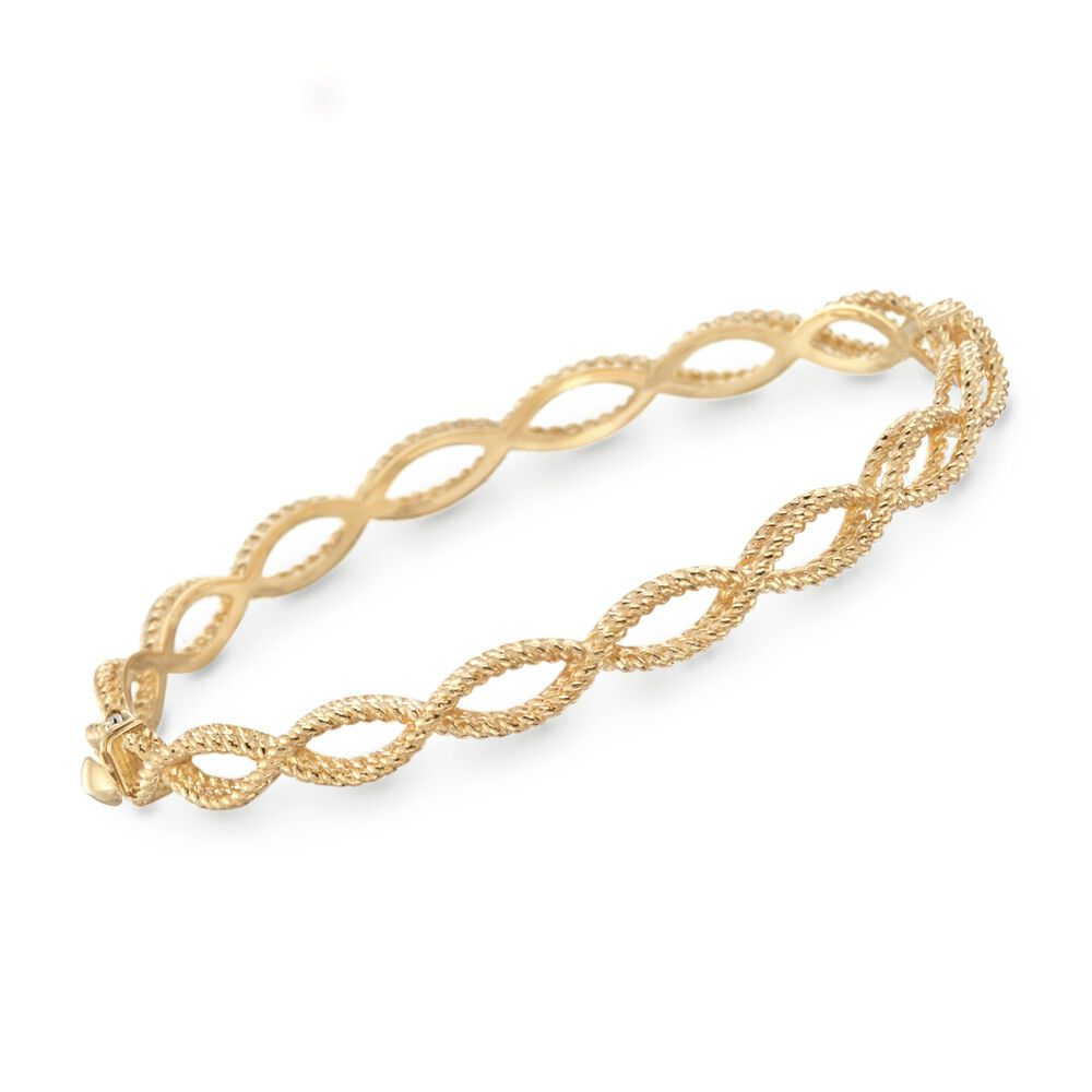 Roberto Coin Barocco 18kt Yellow Gold Braided Bracelet