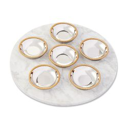 "Reed & Barton ""Roseland"" Marble and Two-Tone Seder Plate , , default"