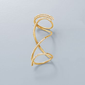 .93 ct. t.w. Diamond Knuckle-Wrap Ring in 14kt Yellow Gold, , default