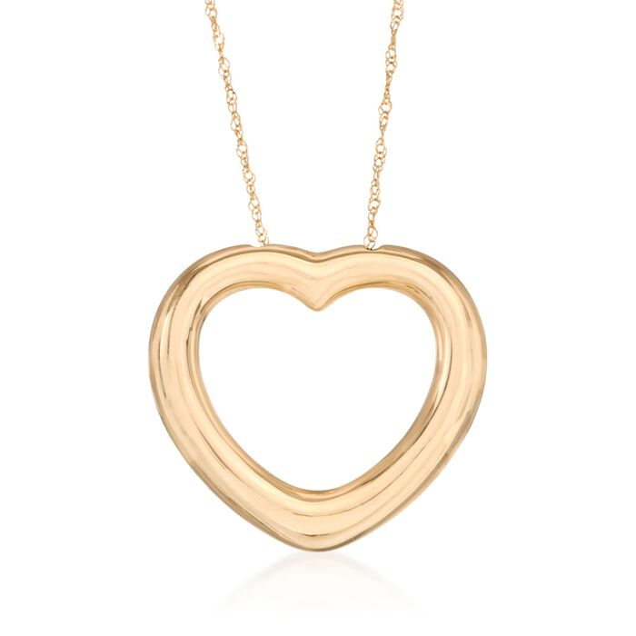 14kt Yellow Gold Heart Necklace