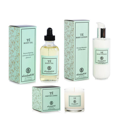 Te Candle, Body Oil and Lotion Set