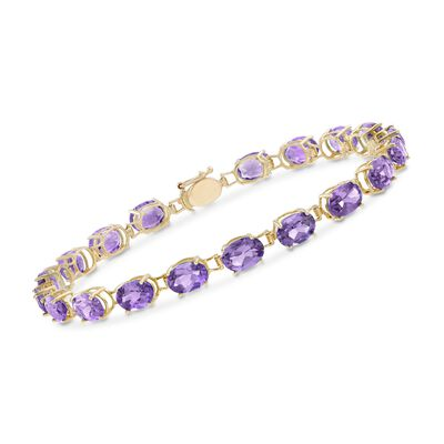 11.00 ct. t.w. Oval Amethyst Bracelet in 14kt Yellow Gold