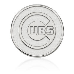Sterling Silver MLB Chicago Cubs Lapel Pin, , default