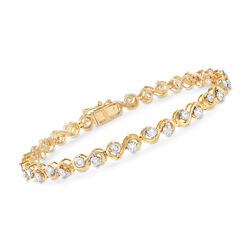 3.00 ct. t.w. Diamond Tennis Bracelet in 14kt Yellow Gold, , default