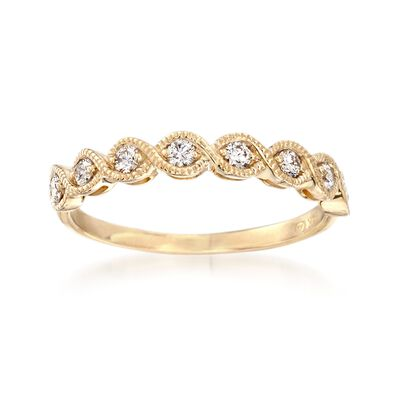 .25 ct. t.w. Diamond Milgrain Ring in 14kt Yellow Gold