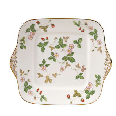 """Wedgwood """"Wild Strawberry"""" Square Cake Plate, , default"""