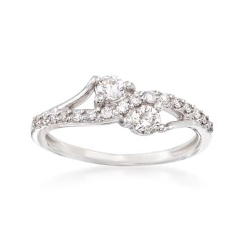 .50 ct. t.w. Diamond Two Stone Ring in 14kt White Gold, , default