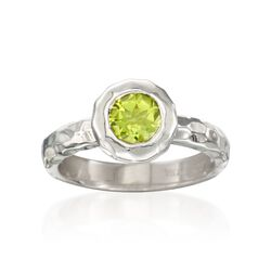 "Zina Sterling Silver ""Ripples"" .85 Carat Peridot Ring, , default"