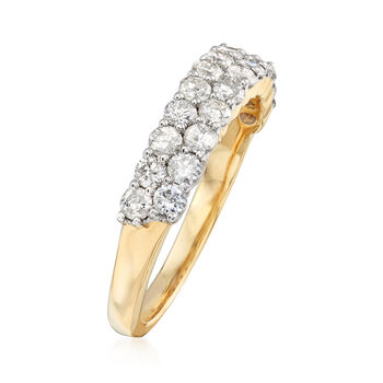 1.00 ct. t.w. Diamond Two-Row Ring in 14kt Yellow Gold. Size 9, , default