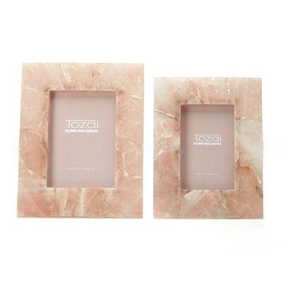 Set of Two Pink Quartz Photo Frames , , default
