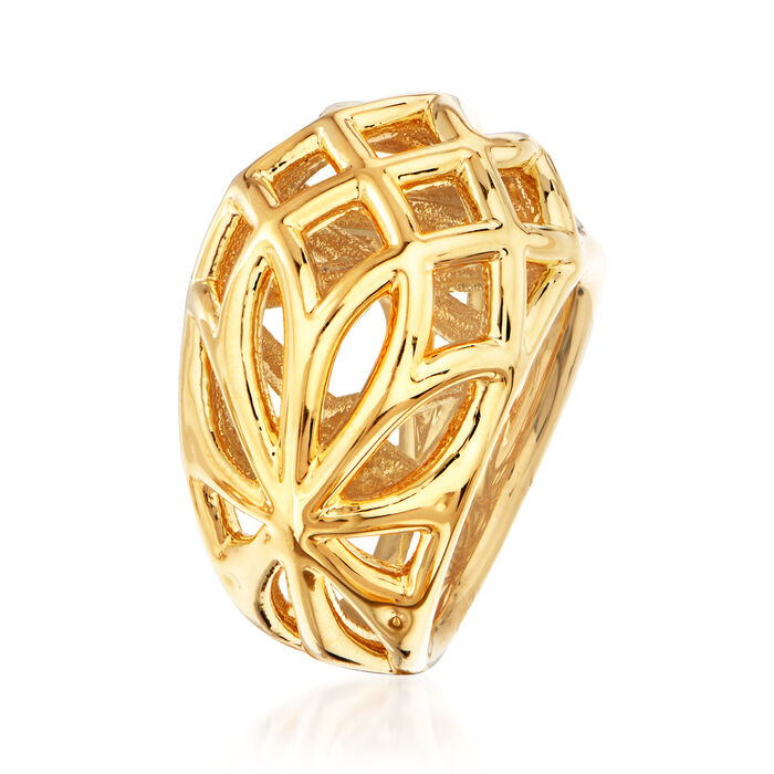 Italian Andiamo 14kt Yellow Gold Openwork Dome Ring