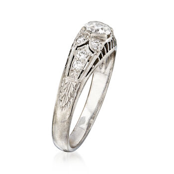 C. 1970 Vintage .51 ct. t.w. Diamond Ring in Platinum. Size 6.5, , default