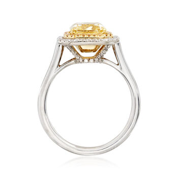 Majestic Collection 3.20 ct. t.w. Yellow and White Diamond Ring in 18kt Two-Tone Gold, , default