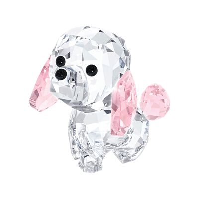 "Swarovski Crystal ""Lovlots - Rosie the Poodle"" Pink and Clear Crystal Figurine, , default"