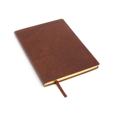 Royce Timber Leather Three-Initial Slim Journal