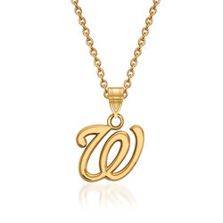 "14kt Yellow Gold MLB Washington Nationals Pendant Necklace. 18"", , default"