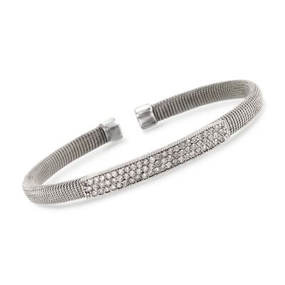 .95 ct. t.w. Diamond Top Cuff Bracelet in 14kt White Gold, , default