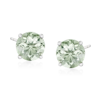 7.50 ct. t.w. Prasiolite Stud Earrings in Sterling Silver