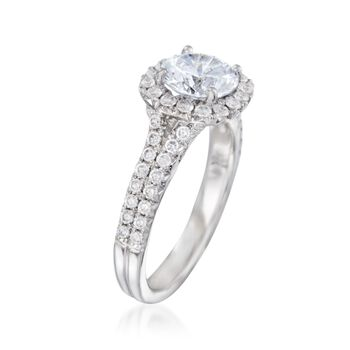 .78 ct. t.w. Diamond Engagement Ring Setting in 14kt White Gold, , default