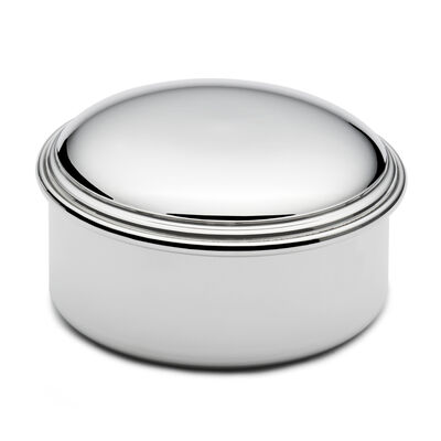 Empire Pewter Round Jewelry Box, , default