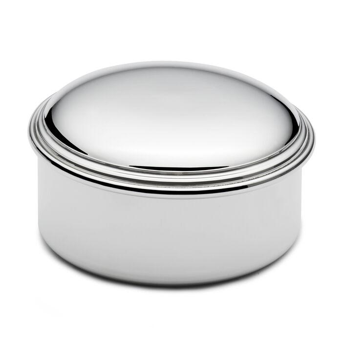 Empire Pewter Round Jewelry Box, , default