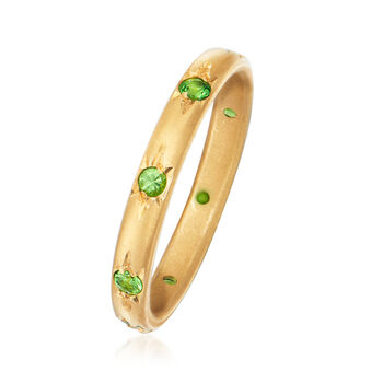 Mazza .30 ct. t.w. Tsavorite Eternity Band in 14kt Yellow Gold. Size 6.5, , default
