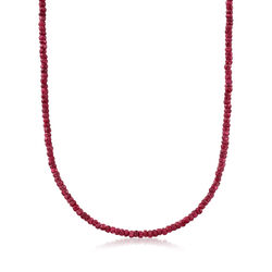 50.00 ct. t.w. Ruby Necklace in 14kt Yellow Gold, , default