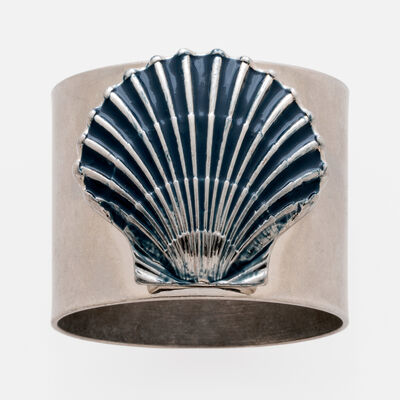 Joanna Buchanan Set of 2 Blue Seashell Napkin Rings, , default