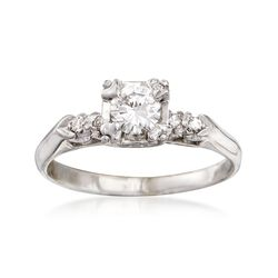 C. 2000 Vintage .58 ct. t.w. Diamond Ring in 14kt White Gold. Size 9.25, , default
