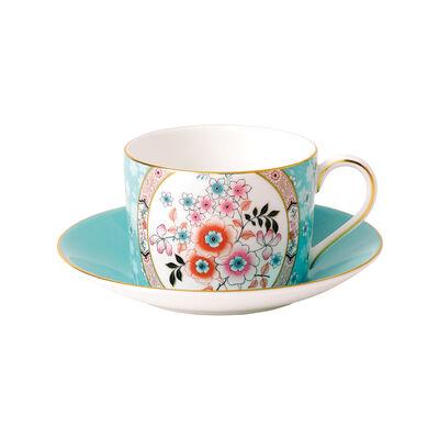 "Wedgwood ""Wonderlust"" Camellia 2-pc. Teacup and Saucer, , default"