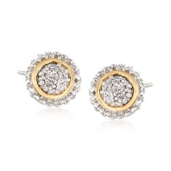 "Phillip Gavriel ""Popcorn"" .16 ct. t.w. Diamond Stud Earrings in Sterling Silver and 18kt Gold , , default"