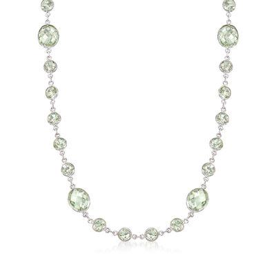 50.00 ct. t.w. Prasiolite Necklace in Sterling Silver, , default