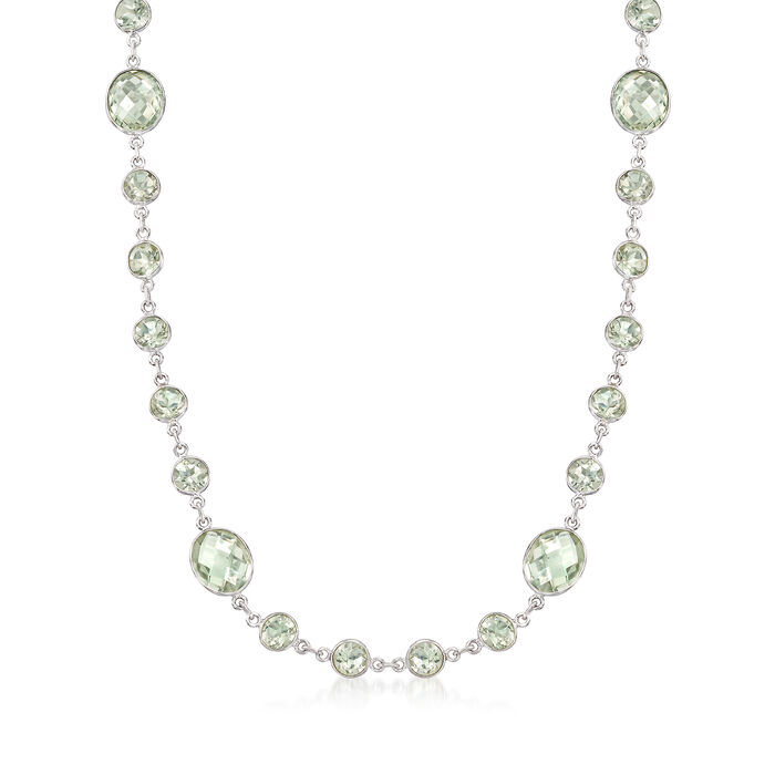 50.00 ct. t.w. Prasiolite Necklace in Sterling Silver, , default