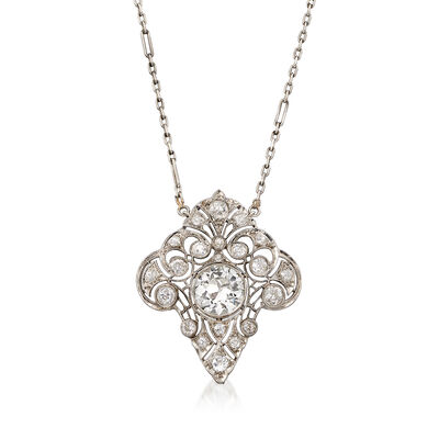 C. 1950 Vintage 3.05 ct. t.w. Diamond Necklace in Platinum, , default