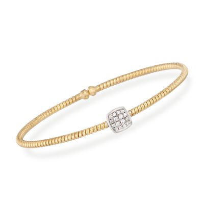 Simon G. .16 ct. t.w. Diamond Square Bracelet in 18kt Yellow Gold, , default