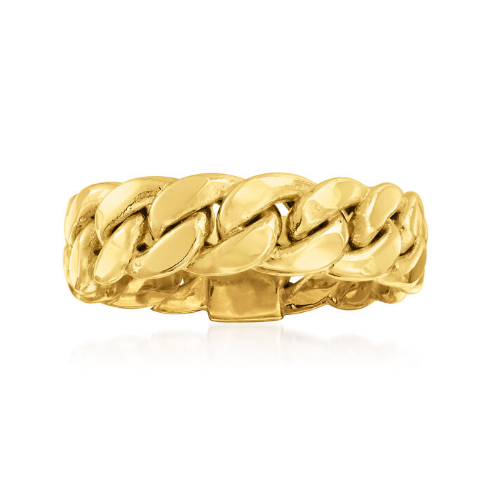 14kt Yellow Gold Curb-Link Ring