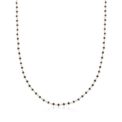 6.00 ct. t.w. Black Diamond Bead Necklace in 14kt Yellow Gold, , default