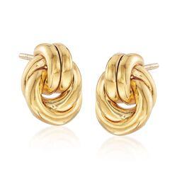 Italian 14kt Yellow Gold Love Knot Earrings , , default